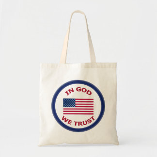 In God We Trust Patriotic Fabric Tote Bags