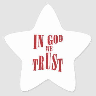 In God We Trust Star Sticker