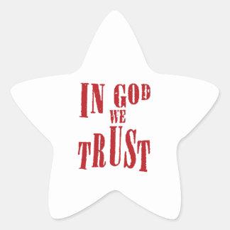 In God We Trust Star Sticker