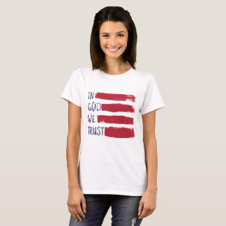 IN GOD WE TRUST USA American Flag T-Shirt