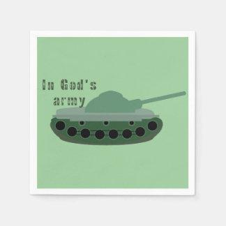 in God's army (tank) Napkin