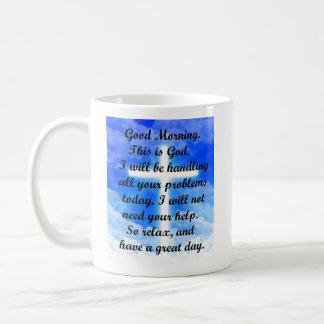 In God's Hands Classic White Coffee Mug