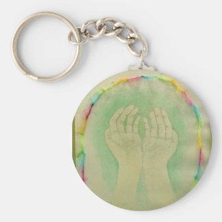 In Good Hands Basic Round Button Keychain