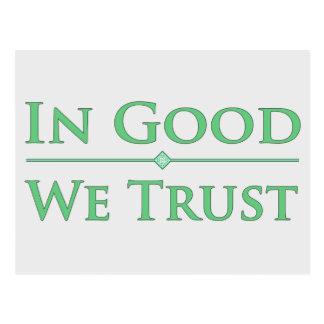 In Good We Trust Postcard