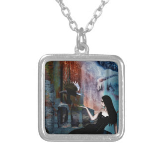 IN HER SHADOW KINGDOM SILVER PLATED NECKLACE