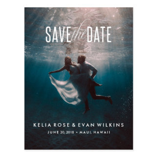 In High Tide Or In Low Tide Save the Date Postcard