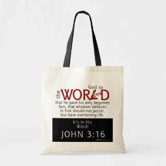 In His Word-John 3:16 Scripture Tote Bag