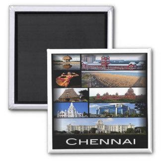 IN * India - Chennai Madras Mosaico Magnet