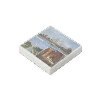 IN India - The Taj Mahal - Yamuna River - Archways Stone Magnets