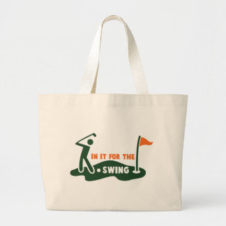 In it for the swing GOLF Jumbo Tote Bag