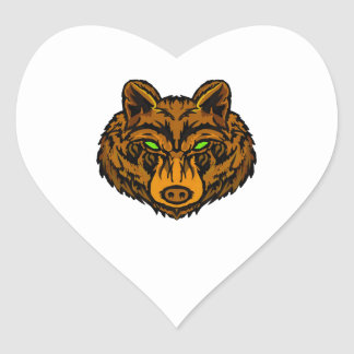 IN ITS VISION HEART STICKER