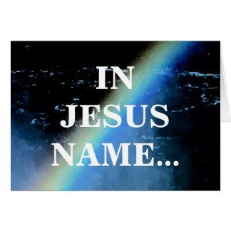 IN JESUS NAME CARD