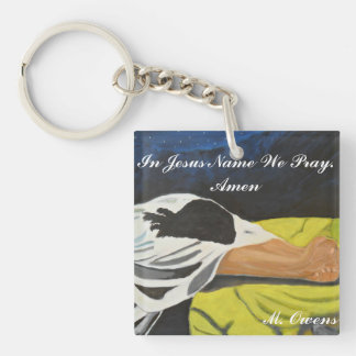 In Jesus Name We Pray. Amen Key Chain