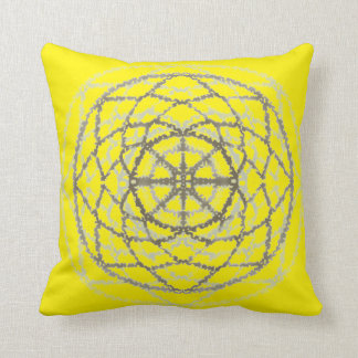 In kind Crircle Yellow Throw Pillow