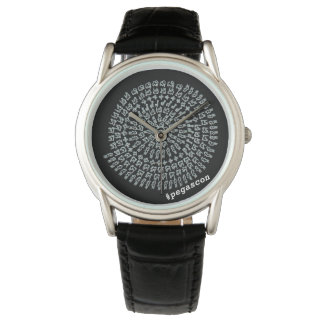 In Kuroti white arithmetic Mandara Watch