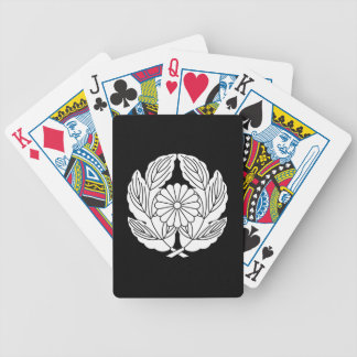 In leaf of holding chrysanthemum chrysanthemum bicycle playing cards