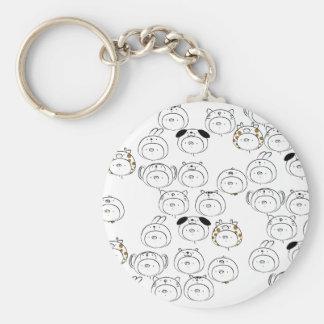 In Let's a ma bu u Basic Round Button Keychain