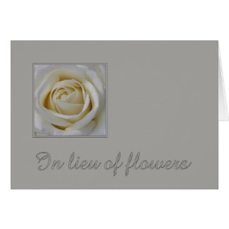 In Lieu of Flowers - Charity Donation sympathy Card