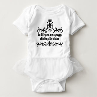 In Life You Are A Puppy Climbing The Stairs Baby Bodysuit