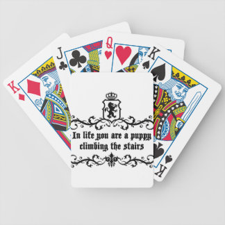 In Life You Are A Puppy Climbing The Stairs Bicycle Playing Cards