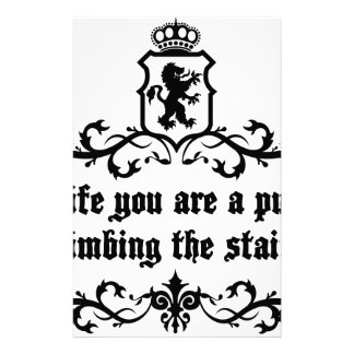 In Life You Are A Puppy Climbing The Stairs Stationery