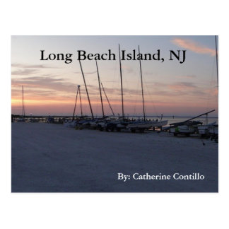 In Long Beach Island NJ by the bay Postcard