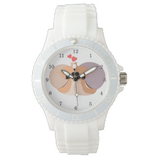 In Love 1 - Women's Sporty White Silicon Watch