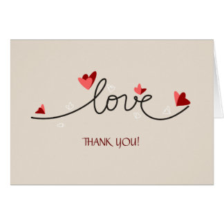 In Love Simple Elegant Text Thank You Card