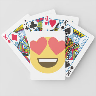 In love smiley emoji bicycle playing cards