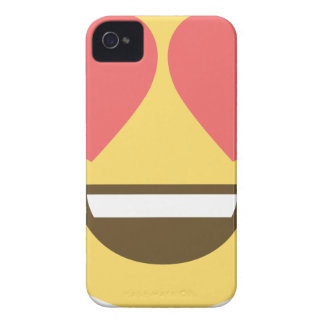 In love smiley emoji Case-Mate iPhone 4 cases