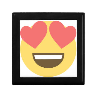In love smiley emoji gift box