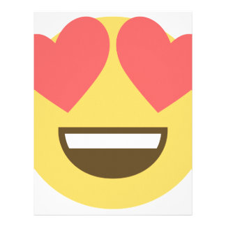 In love smiley emoji letterhead