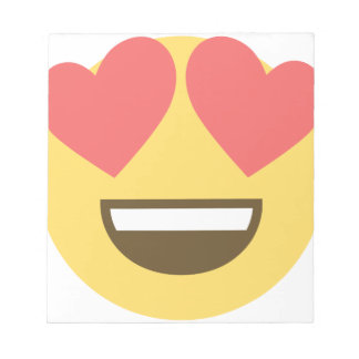 In love smiley emoji notepad
