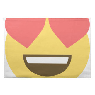 In love smiley emoji placemat