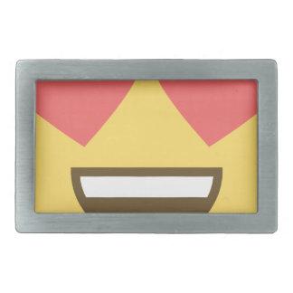 In love smiley emoji rectangular belt buckle