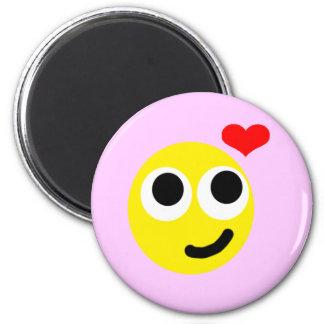 In Love Smiley Magnet