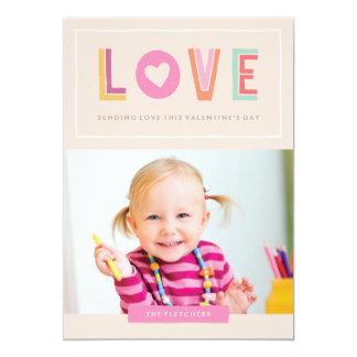 In Love Valentine's Day Card - Peach