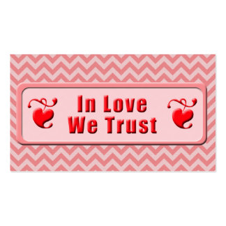 In Love We Trust Pack Of Standard Business Cards