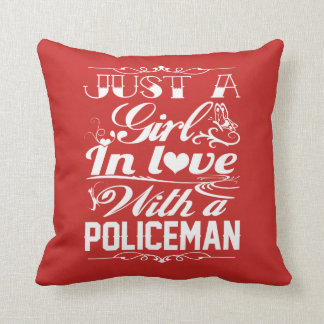 In love with a Policeman Throw Pillow