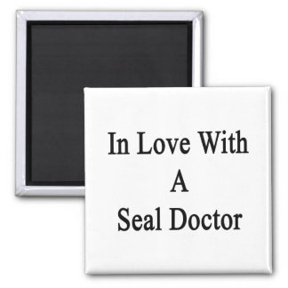In Love With A Seal Doctor Refrigerator Magnets