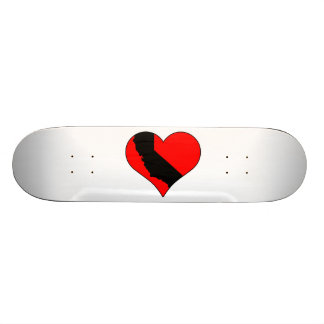 In Love With California Heart With State Custom Skateboard