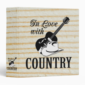 In love with country vinyl binder