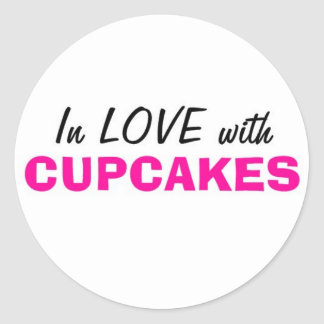 In Love with Cupcakes Classic Round Sticker