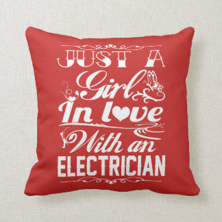 In love with Electrician Throw Pillow
