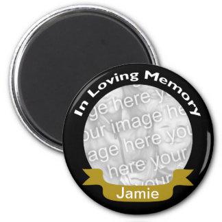 In Loving Memory Black Gold Photo Magnet