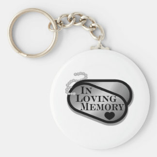 In Loving Memory Dog Tags Keychain