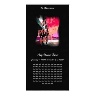 In Loving Memory- Fade to Black Photo Cards