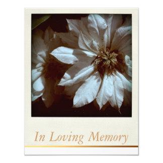 In Loving Memory Floral Memorial Funeral Service Card