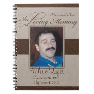 In Loving Memory Memorial / Guestbook Note Book