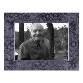 "In Loving Memory Memoriam Death Notice Photo 4.25"" X 5.5"" Invitation Card"